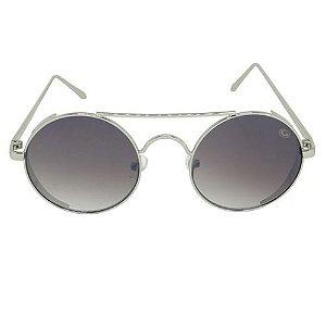 Óculos de Sol Redondo Prata