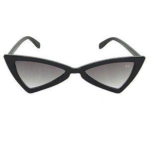 Óculos de Sol Gatinho Fino Preto