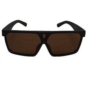 Óculos de Sol Quadrado Marrom 2553