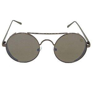 Óculos de Sol Redondo Marrom 2563