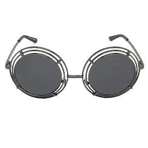 Óculos de Sol Redondo Preto 2558