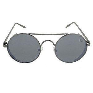 Óculos de Sol Redondo Preto 2564