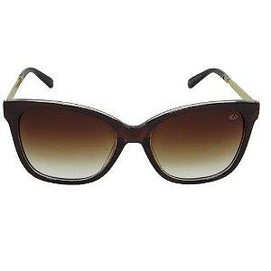 Óculos de Sol Quadrado Marrom 2572