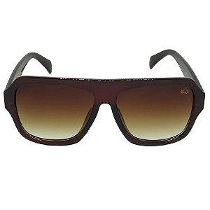 Óculos de Sol Quadrado Marrom 2573