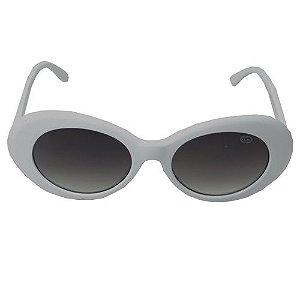 Óculos de Sol Redondo Branco Estilo Kurt Cobain