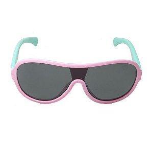 Óculos de Sol Retrô Infantil Rosa e Verde
