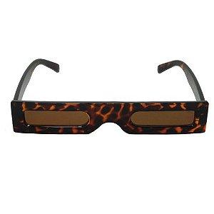 Óculos de Sol Quadrado Fino Marrom