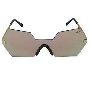 Óculos de Sol Hexagonal Rosa Geror