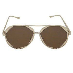 Óculos de Sol Aviador Marrom Geror