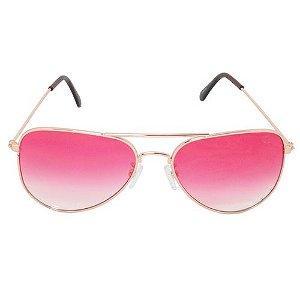 Óculos de Sol Aviador Rosa Geror