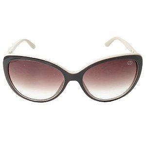 Óculos De Sol Gatinho Marrom e Bege