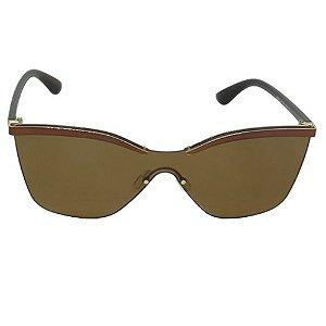 Óculos de Sol Retrô Marrom Pequeno Defeito