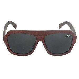 Óculos de Sol Retrô Amadeirado Marrom Pequeno Defeito