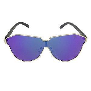 Óculos de Sol Retrô Azul Pequeno Defeito
