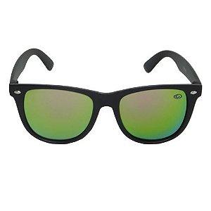 Óculos de Sol Infatil Verde/Laranja Espelhado Pequeno Defeito