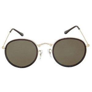 Óculos de Sol Redondo Marrom Pequeno Defeito