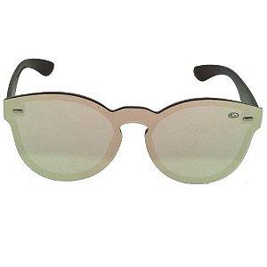 Óculos de Sol Redondo Rosa Espelhado  Pequeno Defeito