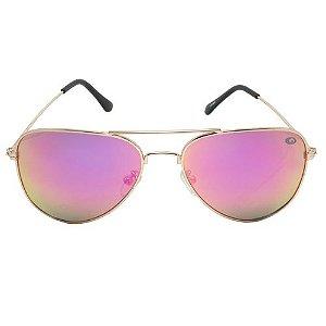 Óculos de Sol Aviador Rosa Pequeno Defeito
