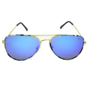 Óculos de Sol Aviador Azul Pequeno Defeito