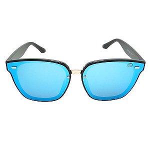 Óculos de Sol Quadrado Azul Pequeno Defeito
