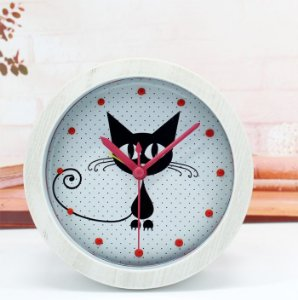 Relógio Despertador Decorativo de Mesa Redondo