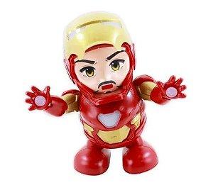 Robô Dançarino Boneco Homem De Ferro Iron Man
