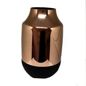 Vaso em vidro cobre e preto