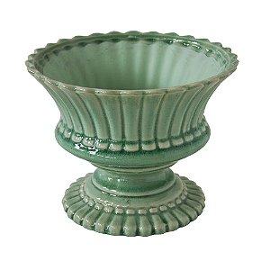 Cachepot em cerâmica Dayla verde