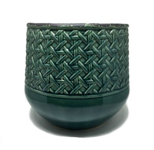 Cachepot em cerâmica oliva