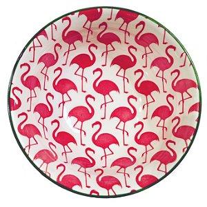 Bowl em cerâmica estampa flamingos