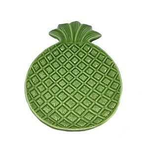 Prato em cerâmica abacaxi