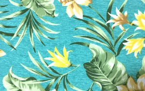 Jogo americano em tecido impermeável tropical