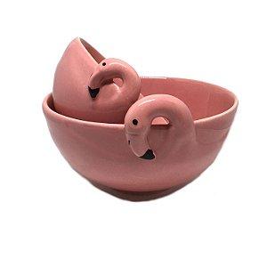 Conjunto de bowls flamingo