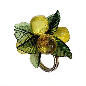 Porta guardanapo limão siciliano cristal