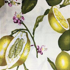 Guardanapo em tecido limão siciliano