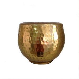 Cachepot em metal dourado jasmin