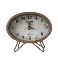 Relógio de mesa oval