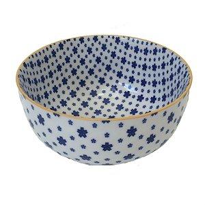 Bowl em porcelana estampada modelo 01 G