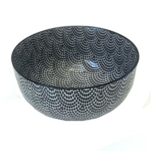 Bowl em porcelana estampada modelo 03 G