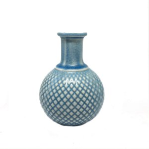 Garrafa em cerâmica azul P