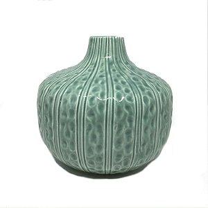 Vaso em cerâmica azul esverdeado