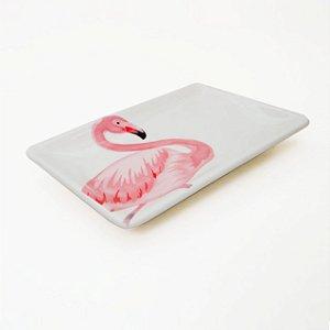 Prato retangular flamingo M