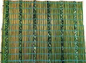 Jogo americano rústico verde