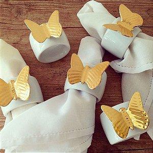 Porta guardanapo borboleta ouro