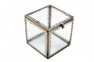 Caixa em vidro e metal P