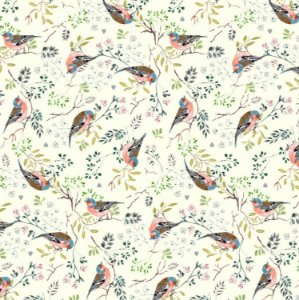 Guardanapo em tecido estampa pássaros