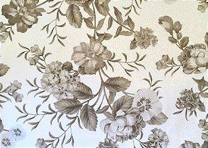 Jogo americano em tecido floral bege