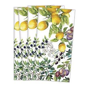 Guardanapo em tecido estampado frutas