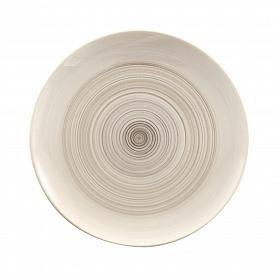 Prato raso em cerâmica clara