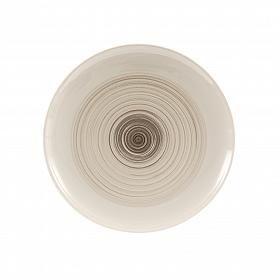 Prato de sobremesa em cerâmica clara